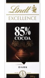 Lindt Excellence 85% какао 100г плитка шоколада