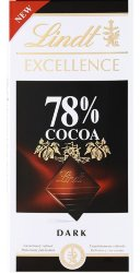 Lindt Excellence 78% какао шоколад 100г