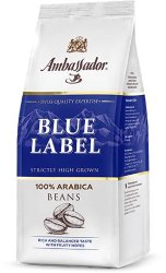Ambassador Blue Label 1кг кофе в зернах пакет 100% арабика