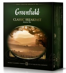 Greenfield Classic Breakfast 100 пак х 2г чай черный