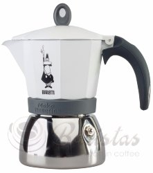 Bialetti Moka Induction 6 порций (сталь, белая) гейзерная кофеварка